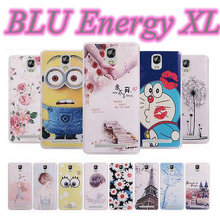 TPU Drawing Colorful Carton Pattern Shell Cover for BLU Energy XL Mobile Cell Phone Fashion Case Free Shipping