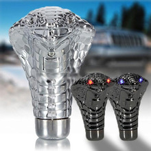Hot Car Gear Shift Knob LED Red Eyes Snake Gear Shift Knob Gears Rally Racing Shifter For Manual Transmission
