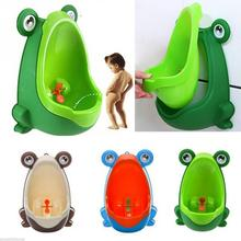 Cartoon Frog Shape Baby Boy Children Potty Suction Cups Wall-Mounted Urinals Toilet Training Children Stand Vertical Urinal Boys