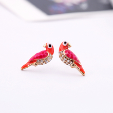 free shipping 10 pair/lot fashon jewelry accessories metal bird stud earrings for women