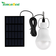 LemonBest Solar panel LED bulb LED Solar Lamp Solar Power LED Light Outdoor Solar Lamp Spotlight Garden Light(China)