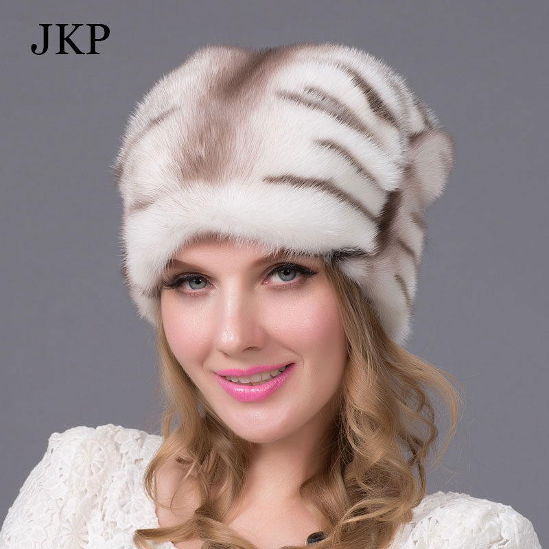 women clothing New Genuine Winter 2015 Mink Fur Hat cap in Fur Headdress Warm Fashion Cap Hats HeadgearОдежда и ак�е��уары<br><br><br>Aliexpress