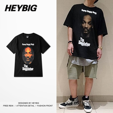 Hip hop Rap Men  Street T-shirts short-sleeve HEYBIG version Swag Fashion TEE American West coast Hot clothing Chinese Sizing!