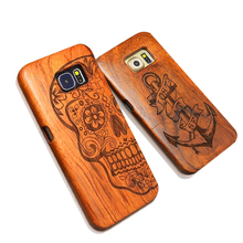 Nature Wood Case For iPhone 7 6 6s Plus SE 5 5s Samsung Galaxy S6 S7 edge Plus S5 S4 S3 Note 7 5 4 3 Retro Carving Wooden Cover(China)