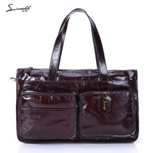 New Genuine Leather Casual Men Handbag Retro Men And Women First Layer Cowhide Business High Quality Luggage Bag