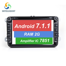 Android 7.1.1 CAR DVD GPS For Seat Altea Leon Toledo VW Passat POLO golf 5 6 SKODA navigation touch screen RADIO RAM 2G 16G 7851