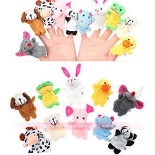 6/10/12 PCS Baby Kids Plush Learn Story Family Finger Puppets Toys Set Cute Fuuny Toy Figures