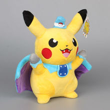 "Anime Pikachu Cospaly Batman Stuffed Soft Plush Toy Dolls Brinquedo Kids Gift 10"" 25 CM"