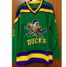 Dropshipping Mighty Ducks Movie Jersey #33 Greg Goldberg Hockey Jersey Stitched All Sewn GREEN