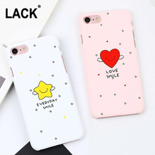 LACK Cartoon Heart Angel Stars Case For iphone 6 Case Cute Letter Love Smile Cover Hard PC Phone Cases For iphone 6S 6 PLus Capa(China)