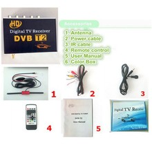 Car DVB-T2 MPEG-4 H.264 HD 1080P Digital Car TV Tuner DVB T2 Car For Europe Southeast Asia Russia Thailand Columbia