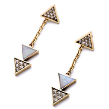Wing Yuk Tak Rushed Classic Spike Earings Hot Sale Women Rhinestone Triangle Earrings Fashion Latest Design For Charm Jewelry