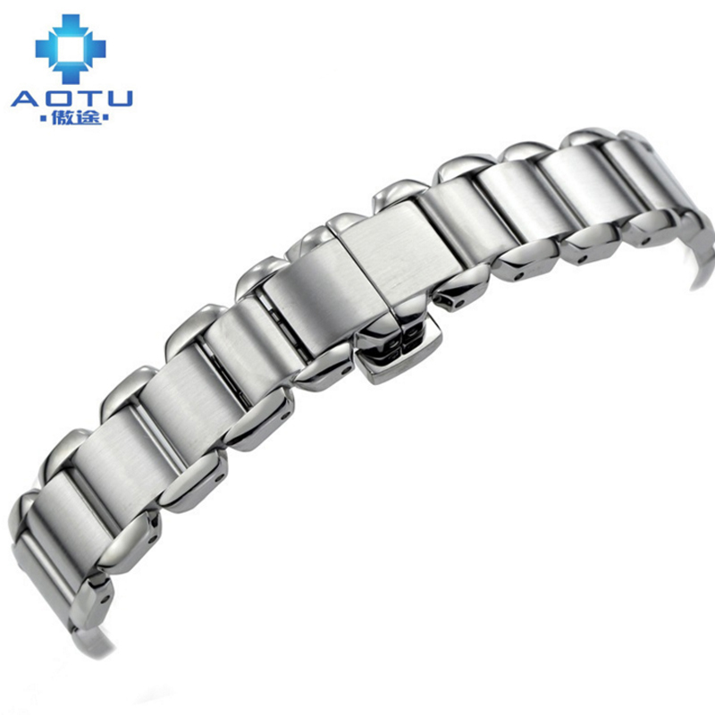 Stainless Steel Watchband For Tissot T-WAVE T02 Men Top Brand Watchbands 14MM Male Clock Watch Strap Cinturino Orologio Bracelet<br>