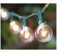 100Ft G40 Globe String Lights with Bulbs Outdoor Market Lights for Indoor/Outdoor Commercial Decor,Green(China)