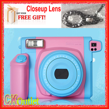 Fujifilm Instax 300 Wide Sweet candies + Free Closeup Lens Photo Camera Instax Film Instant in Pink Blue Color(China)