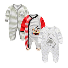Baby Girl Rompers Clothing Baby Girl's Pajamas Romper Newborn Feet Cover Sleepwear Infant Body suits One-piece Clothes(China)