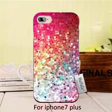 Color diamond crystal stone  Colourful Style Design Cell Black Phone For iPhone  se 5s 6s 7 plus case case