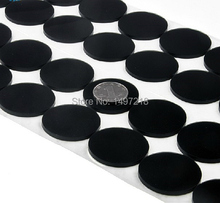 100 PCS 20mm x 3mm black anti slip silicone rubber plastic bumper damper shock absorber 3M self-adhesive silicone feet pads(China)