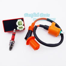 Racing Ignition Coil & 6 pin AC CDI & Spark Plug A7TC Per GY6 50cc 125cc 150cc Ciclomotore Scooter Bike Parts Moto