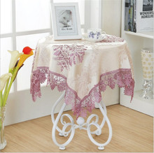 [WIT] 85*85cm Embroidery Table Cloth Banquet Lace Table Clothes Rectangular Universal Cover Cloth European Dinning Table Clothes
