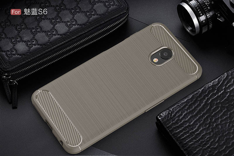 carbon fiber brushed silicone case meizu m6s (11)