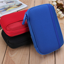 New Arrival Travel USB Storage Bag Cable Insert Flash Drives Organizers For Home Travel Easy Carry Cases(China)