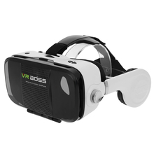 "VR BOSS 3D Virtual Reality Glasses VR Talking Glasses Headset with Earphone Mic for 4~6.3""Android iOS Windows Smart Phones"