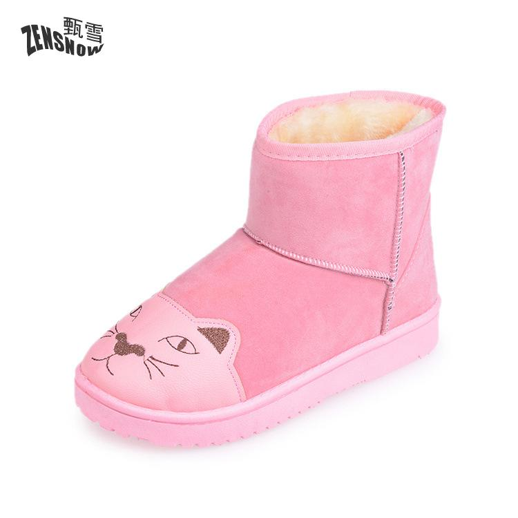 2017 Winter Women Boots, Winter Thickening, Snow Boots, Lovely Cat Shoes<br>