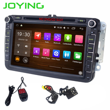 Joying 8 inch Android 6.0 Car Radio 2 din DVD Player For VW Volkswagen Touran Passat Support Bluetooth DAB TV +camera+DVR