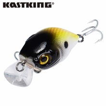 KastKing 1PC 7.2g 50mm Hard Fishing Lure Crankbait Lake River Fishing Bait with 8 Colors Double Hookds(China)