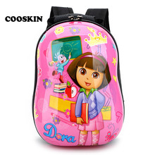 2017 Rose 3D Children School Bag Dora Printing Pupil Bag Kids Backpack Cartoon Girls Package School Mochila Infantile Backpack(China)