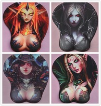 2017 new version Japanese anime 3d mouse pad wristbands Cartoon Creative WOW mouse pad Chest mouse pad Free Shipping(China)