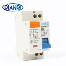 DPNL DZ30LE-32 1P+N 32A 230V~ 50HZ/60HZ Residual Current Circuit Breaker With Over Current And Leakage Protection RCBO