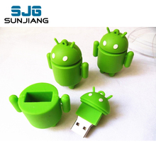 usb flash drive cartoon android pen drive 4GB 8GB 16GB 32GB 64G U Disk flashdrive memory stick pendrive robot gift