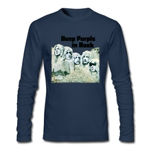 Deep Purple Band T Shirt England Music Rock Men Tshirt Heavy Metal Band High Quality Long Sleeve Custom Big Size Shrits
