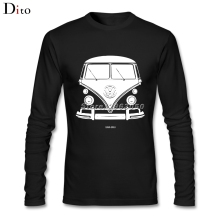 Men's Boy Cool VW BUS, 1950-2013 T Shirt Long Sleeve Cotton Bottoming Tshirts Boy(China)