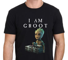 2017 Men'S I Am Groot, Baby Groot Gurdian Of The Galaxy 2 Design Fashion T Shirt Hipster Tops Printed Short Sleeve Tees(China)