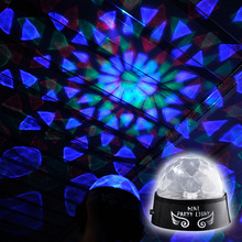 High Quality Mini Portable Colorful Rotating Party LED Light for DJ Disco Stage Effect Lighting Lamp Bulb CLH