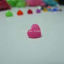 200 Sets #B47 NEON PINK T5 Glossy KAM Heart Shaped Snap Buttons 25 Colors Available in Stock