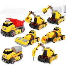 Crane Truck Engineering Transformation Robot Assembling Car Deformation Toy Construction Vehicle Kids Toys Christmas Gifts ZK20(China)