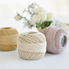 1pcs 50g/ball High Quality #3 Lace Cotton Yarn For Crocheting Knitting By 2-2.5mm Crochet Hooks, Thin Yarn free shipping