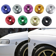 2016 Mini Car Quick Release Fasteners Ideal For Front Bumpers Rear Bumpers Surrounds Reinforcement Ring With JDM Logo New