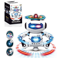 Smart Space Dance Robot Electronic Walking Toys Autokinetic Rotate With Music Light Gift For Kids Astronaut Toy To Children Boy