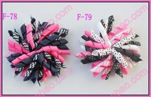 "free shipping 2017 Newest 30pcs 4"" korker hair bows (SEW ones) korker hair clips boutique corker hair clips(China)"