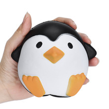 12CM anti stress ball Squeeze Toy kawaii jumbo squishy toys slow rising animals penguin stress relief toys for kids stretchy toy(China)