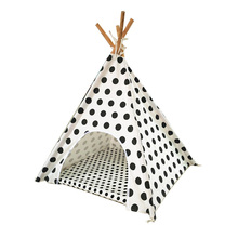 Dog play Bed Pet House Warm Dog Cat Kennel play teepee with mat together(China)