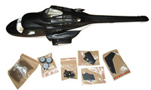 airwolf 250 scale Fuselage VS airwolf 500,airwolf 450,airwolf 600 bell 222 for ALIGN T-REX250 helicopter P5