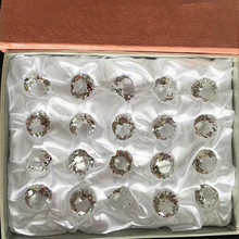 Clear Set 20pcs 20mm With Gift Boxs Crystal Diamond Paperweight Decorative Ornaments Wedding Gifts