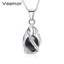 Super Deal Casual Natural Pearl Jewelry Hot Selling 925 Sterling Silver Pendant Necklace For Women Female Jewelry(China)