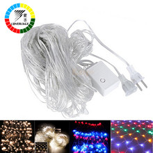 Coversage 2x3M 200Leds Xmas Led Guirlande Fairy Strings Curtain Outdoor Holiday Christmas Decorative String Luces Navidad